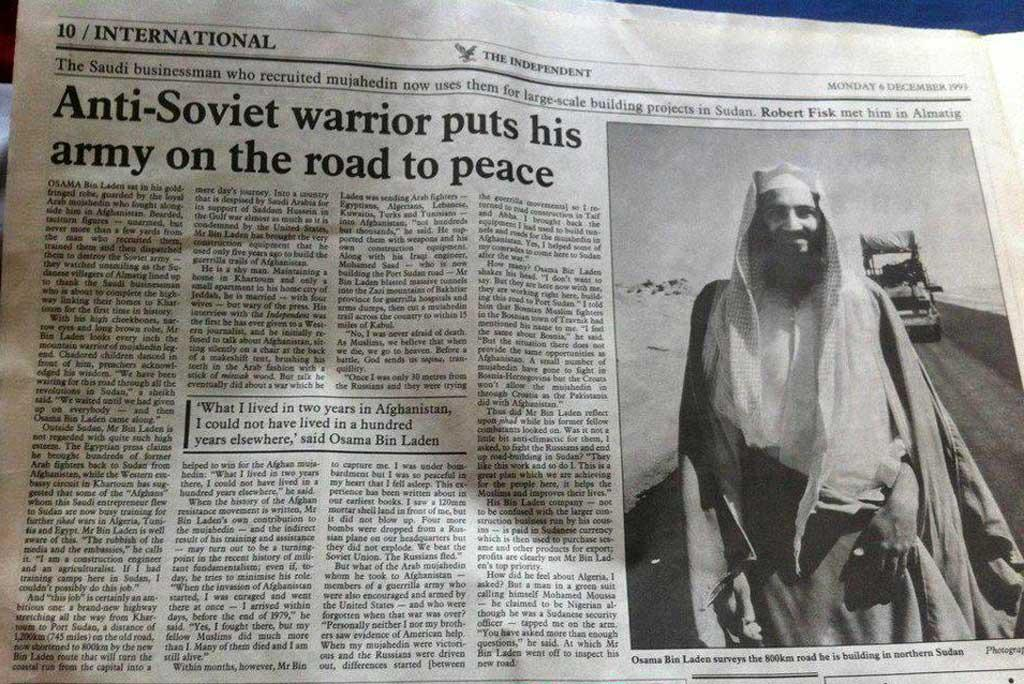 Osama Bin Laden interviewed at The Independent, 1993